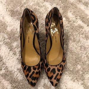 Nine West leopard heels